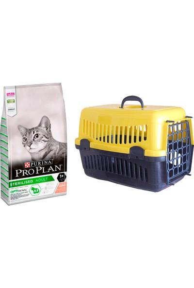 Pro Plan Sterilised Kısır Kediler İçin Özel Somonlu Kedi Maması 3 kg + Pet Style Taşıma Çantası 49 cm Sarı