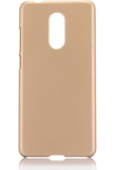 Microcase LG Q7 Plus / Q7 Premium Matte Silikon Kılıf Gold