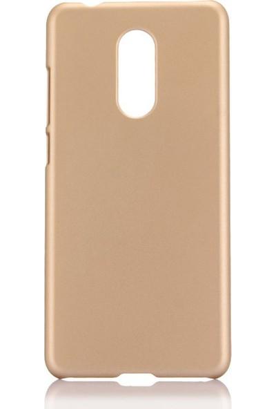Microcase LG Q7 Prime / Q7 BTS Premium Matte Silikon Kılıf Gold