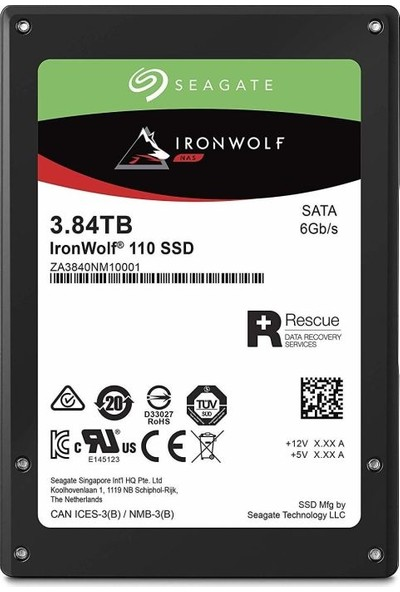 Seagate Ironwolf 110 3840GB 560MB-535MB/s Sata 3 SSD ZA3840NM10011