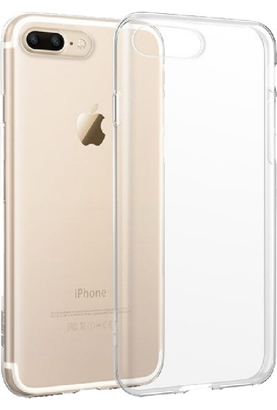 Soultech Apple iPhone 7 Plus Silikon Kılıf Beyaz - SLK148B