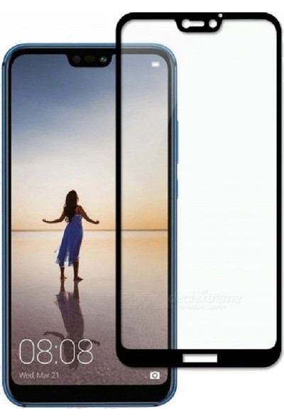 Soultech Huawei P20 Lite (Colorful) Platinum Cam Ekran Koruyucu Siyah - EK812S