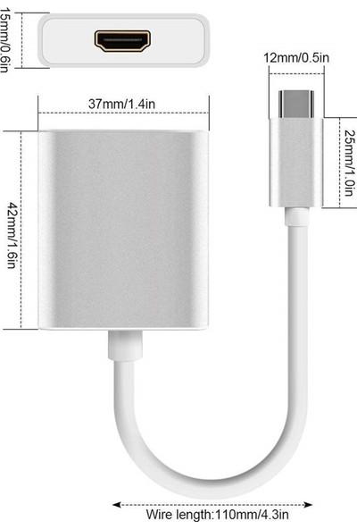 Codegen USB 3.1 Type-C Erkek - HDMI Dişi Çevirici Adaptör CDG-CNV33