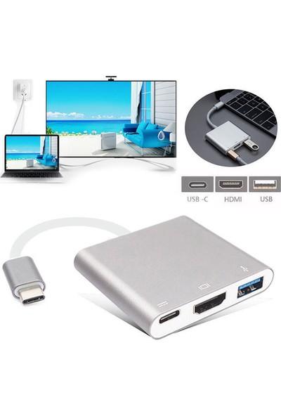 Codegen USB 3.1 Type-C - USB 3.0+ HDMI+ USB 3.1 Type-C Çoklayıcı Adaptör CDG-CNV39