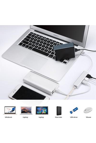 Codegen USB 3.0 - 3Port USB 3.0+ RJ45 Ethernet Çoklayıcı Hub CDG-CNV41