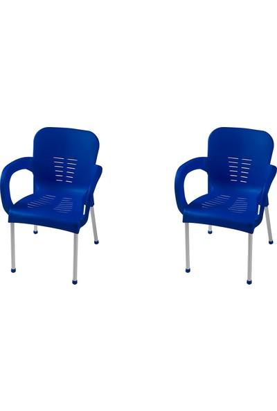 Comfort Çiğdem Alüminyum Ayak Sandalye 2 Adet