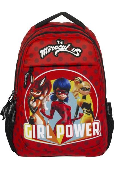 Ümit Çanta Miraculous Girl Power Baskılı Kız Çocuk İlkokul Çanta Seti