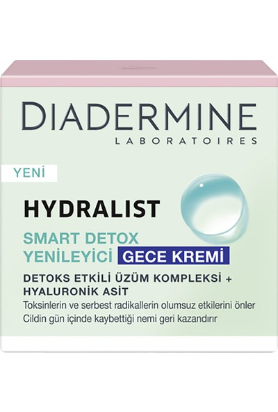 Diadermine Hydralist Smart Detox Yenileyici Gece Kremi 50 ml