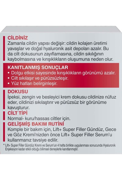 Diadermine LIFT+ Super Filler Gündüz Kremi 50 Ml