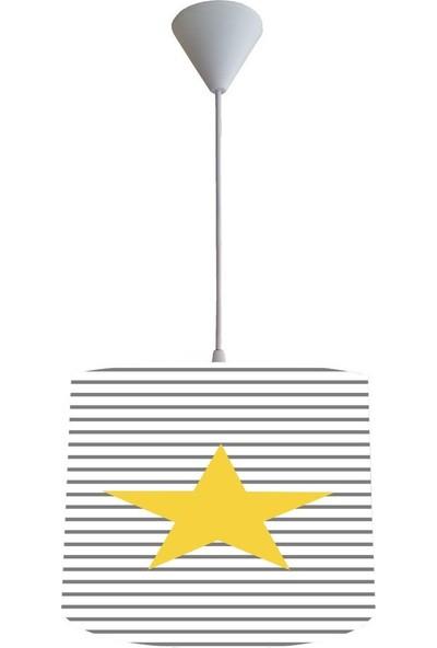 Consept Home Chl-127 Sarı Yıldızlı Çocuk Odası Lambası