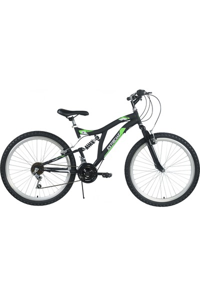 Extreme 24 Jant Çift Amörtisörlü Dağ Bisikleti Yeşil