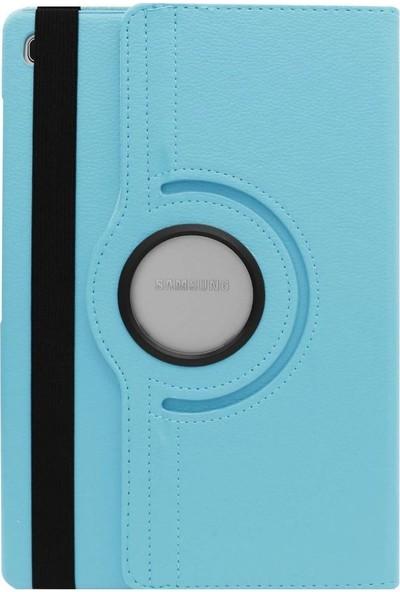 Teleplus Samsung Galaxy T720 Tab S5E 360 Dönerli Standlı Kılıf Mavi