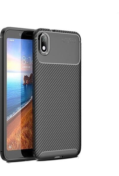 Teleplus Xiaomi Redmi 7A Kılıf Ultra Soft Negro Karbon Silikon + Nano Ekran Koruyucu Siyah