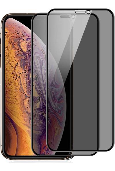 Case 4U Apple iPhone XS Max - iPhone 11 Pro Max Privacy Hayalet Cam Ekran Koruyucu Siyah
