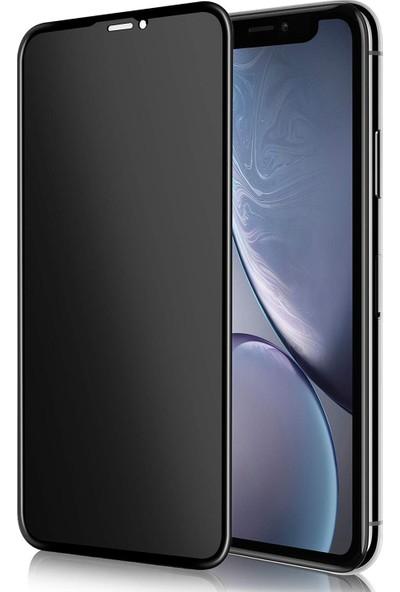 Case 4U Apple iPhone XR - iPhone 11 Privacy Hayalet Cam Ekran Koruyucu Siyah