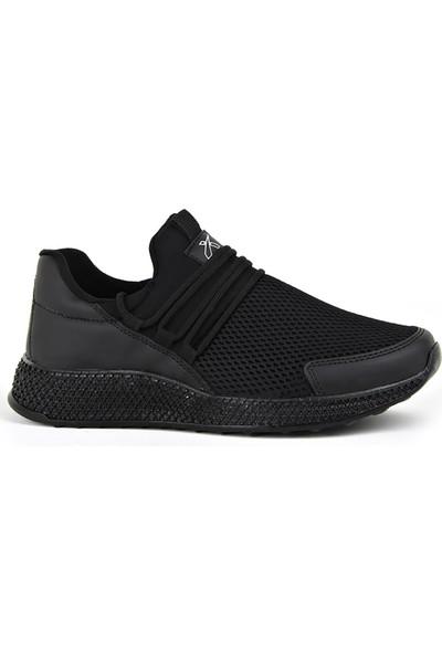 Scot Siyah Günlük Yürüyüş Erkek Spor Ayakkabı