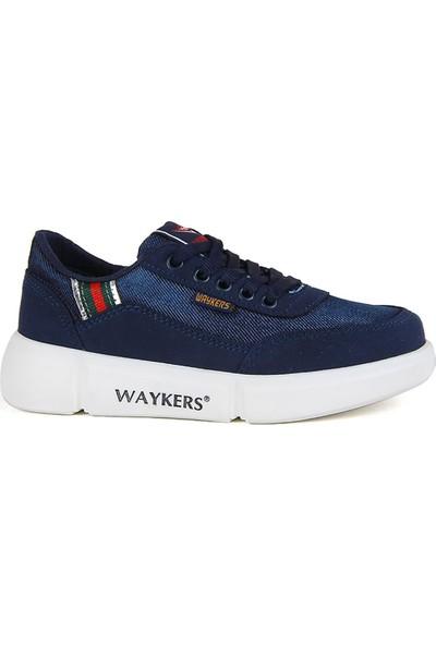 Waykers Lacivert Kot Erkek Çocuk Günlük Ayakkabı