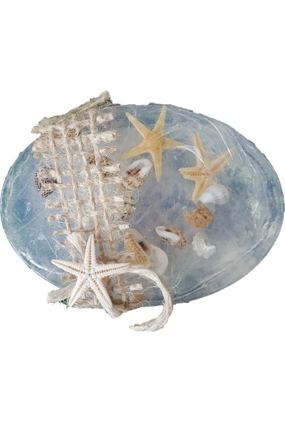 Kariang Beyaz Okyanus Kokulu Doğal Sabun Deniz Kabuklu Nikah Nişan Kına Hediye Nikah Şekeri 1 Adet