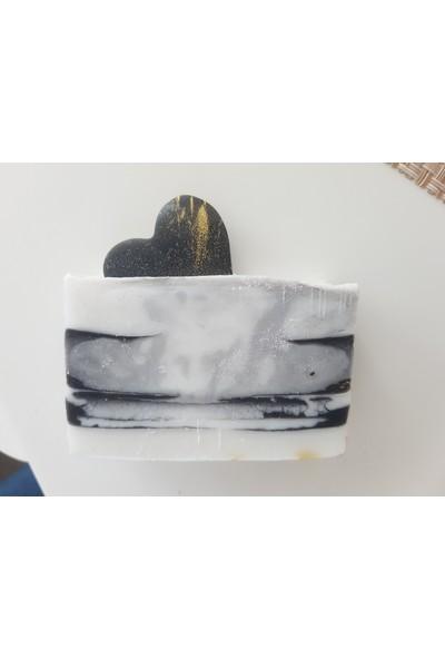 Kariang Güllü Doğal Sabun ve Kalpli Siyah Beyaz Sabun Nikah Sabunu