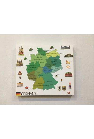 Mapofx Kanvas Almanya Haritası