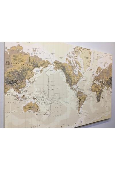 Mapofx Kanvas Dünya Haritası
