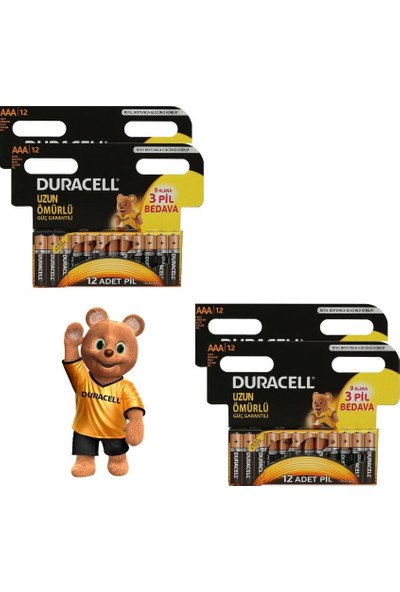 Duracell Alkalin 48'li Özel Pil Paketi(12 Aaa +12 Aaa+12 Aaa +12 Aaa )