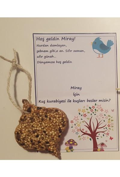 Kariang Kuş Yemi Kuş Kurabiyesi Damla Modeli Düğün Nişan Nikah Kına Doğum Günü Baby Shower Hediyesi 1 Adet