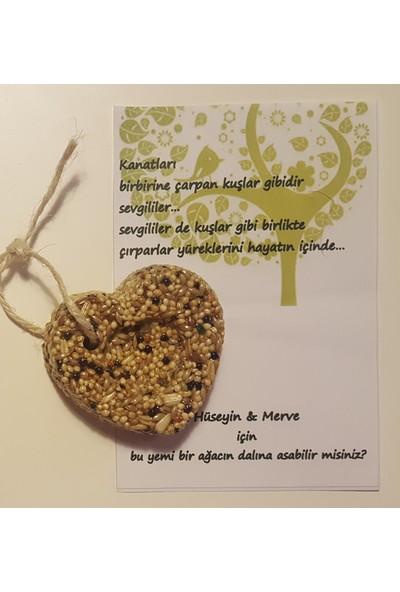 Kariang Kuş Yemi Kuş Kurabiyesi Kalp Modeli Düğün Nişan Nikah Kına Doğum Günü Baby Shower Hediyesi 1 Adet