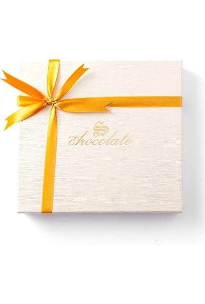 Sıroğlu Çikolata Yaldızlı Madlen Kare Kutu