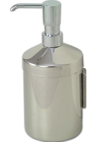 Çelik Banyo Esmer Krom Sıvı Sabunluk Duvara Montaj