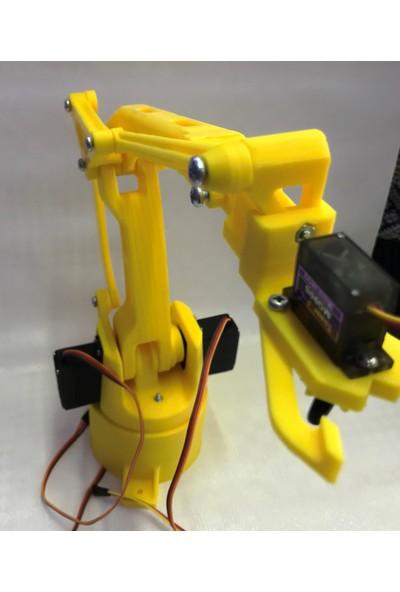 Arduino Robot Kol Büyük Mk2 Modeli + 3ADET MG996R +1 Adet MG90 Servo