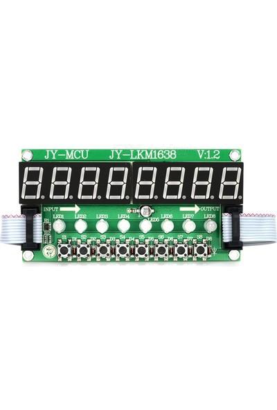 LKM1638 8 Karakter 8 Buton Rg Display - Kablo Dahil