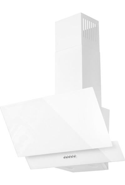 Ferre D004 Beyaz Yatık Cam Davlumbaz
