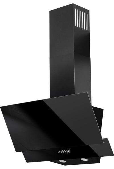 Ferre D003 Siyah Yatık Cam Davlumbaz