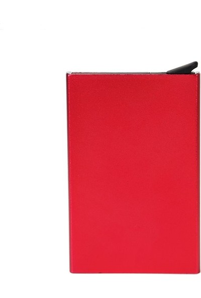 Avp Otomatik Mekanizmalı Metal Kredi Kartlık Kartvizitlik - Kırmızı Red Renk