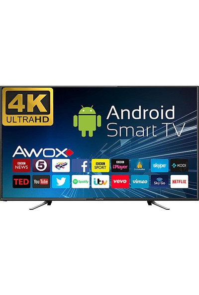 "Awox U5100STR 50"" 4K Ultra Hd Smart Android LED Tv"