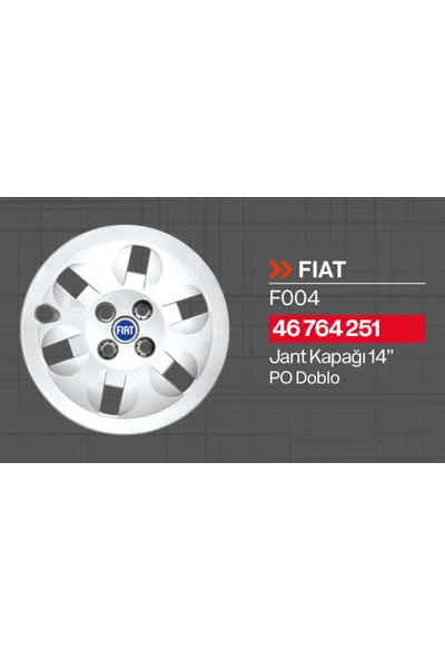 "Tisa Fiat Doblo 14"" Jant Kapağı 4'lü Takım JKF004"