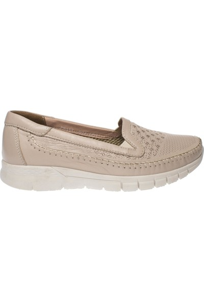 Forelli 29413 Kadın Deri Bej Anatomik Ayakkabı