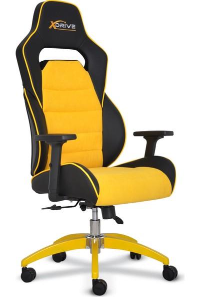 xDrive Göktürk Profesyonel Oyun | Oyuncu Koltuğu Sarı/Siyah