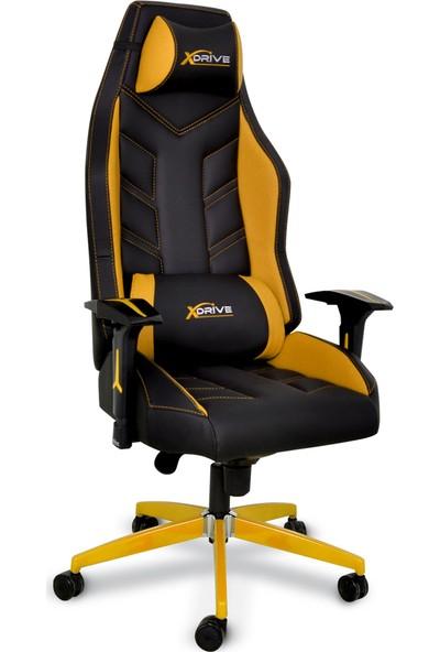 xDrive Fırtına Profesyonel Oyun   Oyuncu Koltuğu Sarı/Siyah