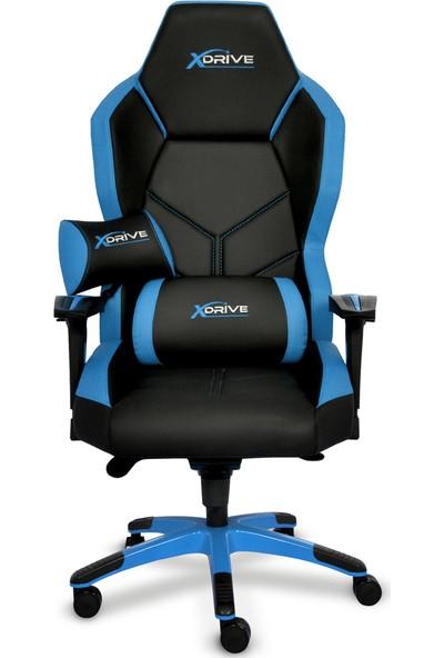 xDrive Kasırga Profesyonel Oyun | Oyuncu Koltuğu Mavi/Siyah