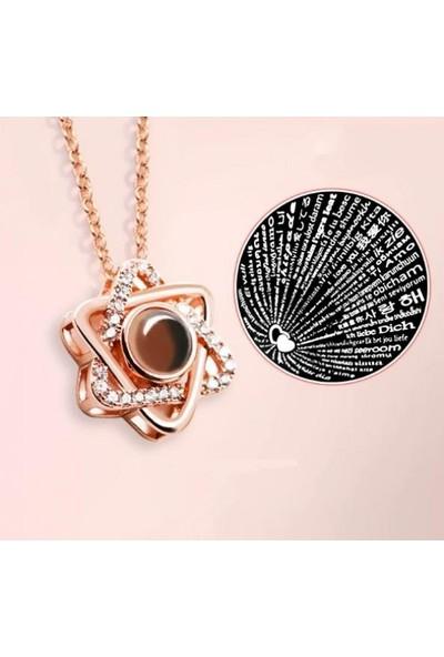 Avantajewellery Zirkon Taşlı 100 Dilde Zirkon Seni Seviyorum Kolye