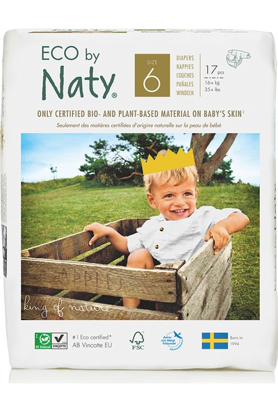 Eco By Naty Bebek Bezi - Xl (No: 6) (16 kg ve Üstü) - 17 Adet