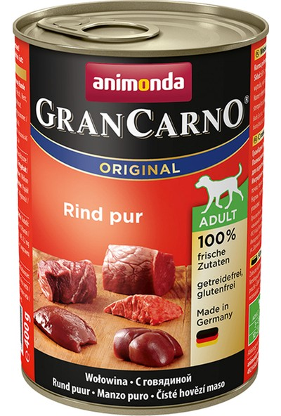 Animonda Carno Biftekli Köpek Konservesi 400 g x 12 Adet