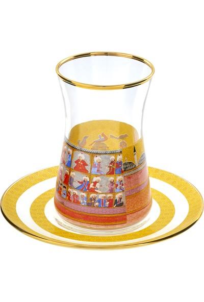 Müzedenal Çay Bardağı Sarı (Minyatür Koleksiyonu)
