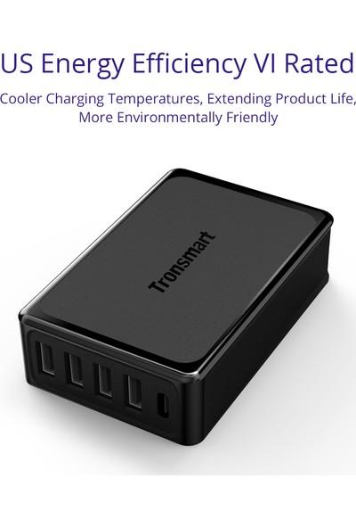 Tronsmart U5P 5 Portlu USB ve Type-C Şarj Cihazı 60W