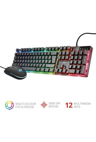 Trust Gxt 838 Azor Gamıng Klavye Mouse Set 23414