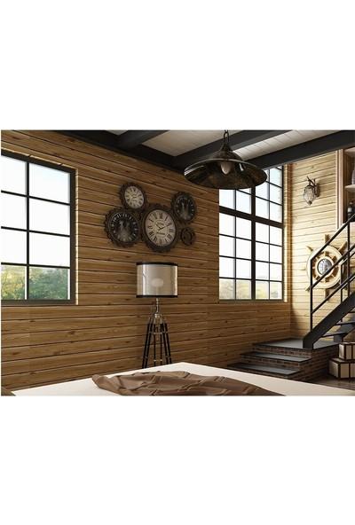 Renkli Duvarlar Ahşap Desen Kendinden Yapışkanlı Duvar Kaplama Paneli (6 Adet)