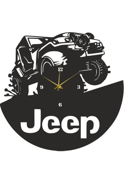 Hediyelikevi Ahşap Jeep Dekorlu Duvar Saati