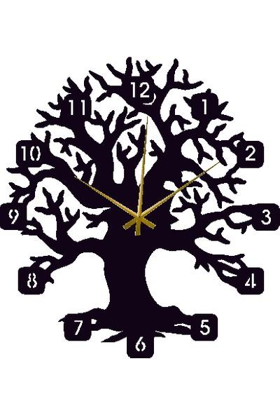 Hediyelikevi Ahşap Ağaç Temalı Duvar Saati